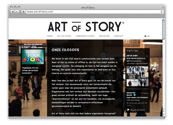 WEBSITE ART OF STORY